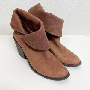 Lucky Brand Brown Leather Booties size 10